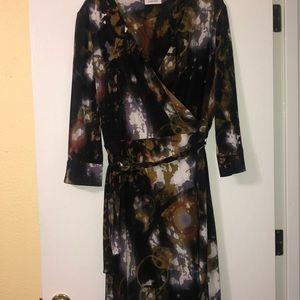 Calvin Klein Faux Wrap Dress 16